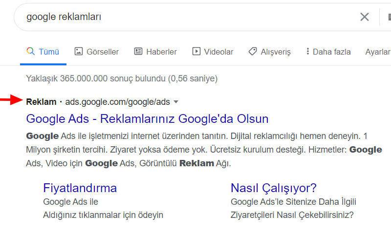 google-reklamları
