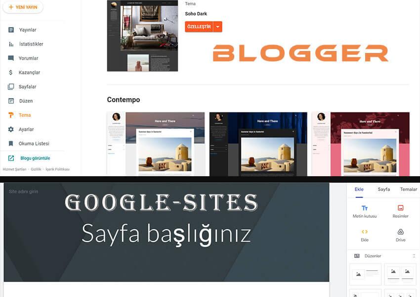 google sitesi kurma